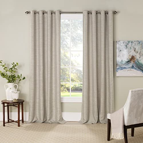Eclipse Blackout Curtains for Bedroom-NewportInsulated Darkening Single Panel Grommet Top Window Treatment Living Room, 52 x 84 , Bay Leaf