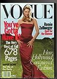 Vogue Magazine September 1998 (ON THE COVER: RENEE ZELLWEGER)