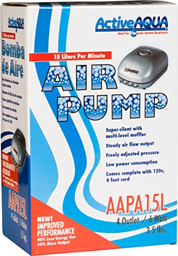 Active-Aqua-Air-Pump-4-Outlets-6W-15-Lmin