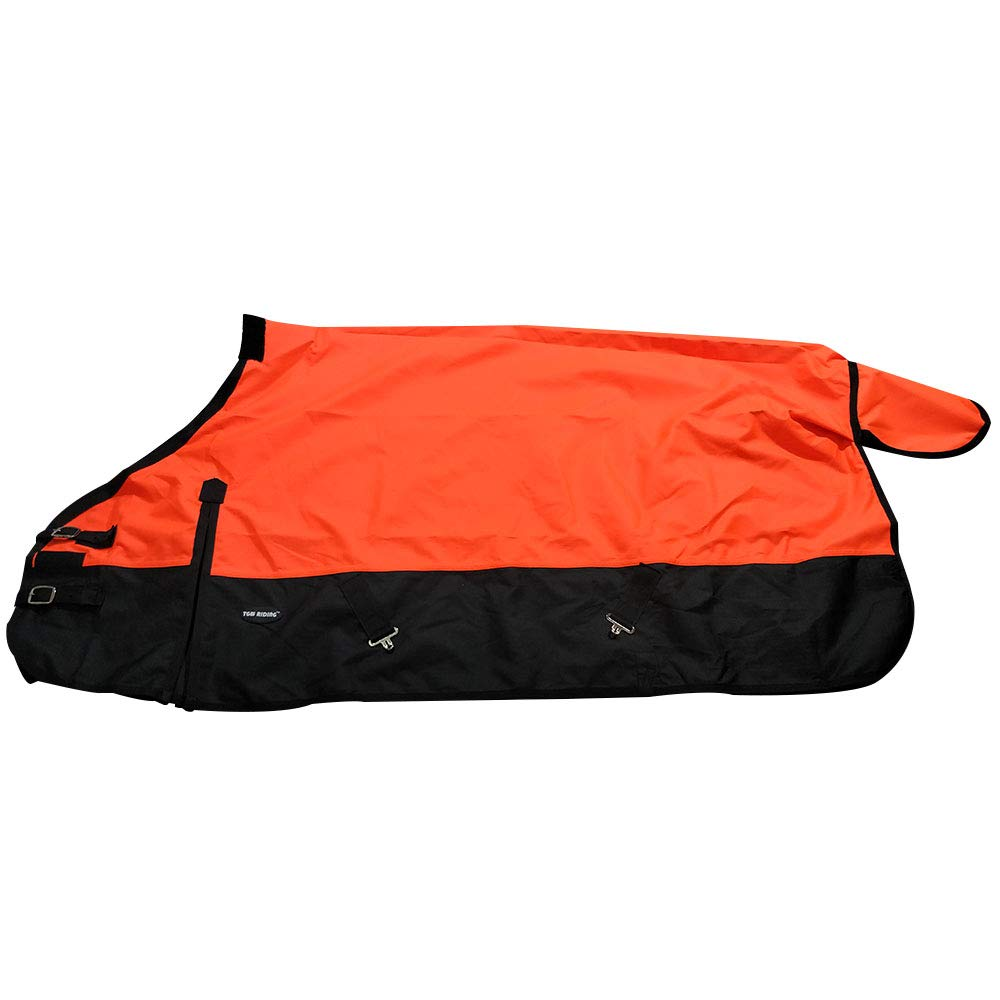 1200D Waterproof and Breathable Horse Sheet TGW Rding Horse Blanket (78'', Orange)