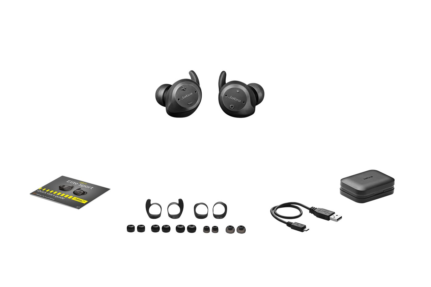 Amazon.com: Jabra Elite Sport True Wireless Waterproof Fitness & Running Earbuds with Heart Rate and Activity Tracker - Advanced wireless connectivity and ...