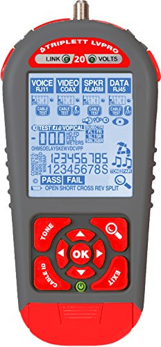 Triplett LVPRO20 Upgradeable Cable Tester with 6 Tester A...