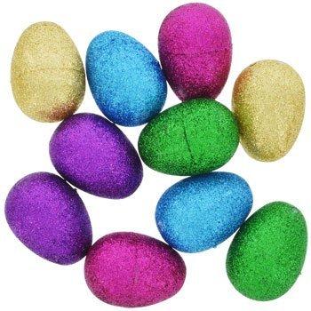 Glitter Hollow Plastic Easter Eggs 10-ct. - Eggs Fancy Easter