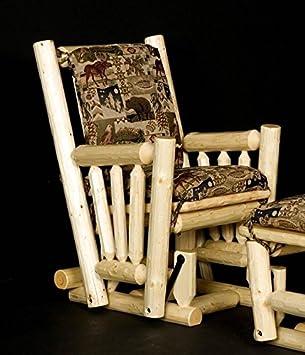 log glider rocker chair honey pine - Glider Rocker Chair