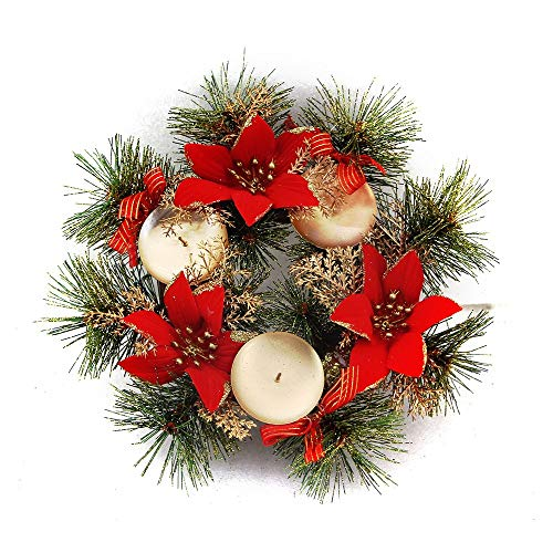 Pendant Drop Ornaments - Christmas Decorative Candlestick Ornament Xmas Flowers Pine Cones Wreath With Supply Decor - Ornament Cake Glass Diamond Top Candle Golden Box Snowman Moroccan
