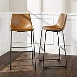 WE Furniture Barstool, 30', Whiskey Brown