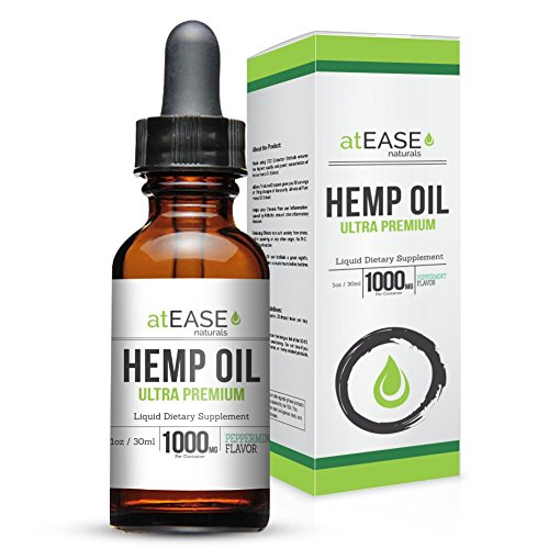 Hemp Oil Full Spectrum High Potency Pure Extract 1,000mg - Rich in Natural Terpenes – Natural Support for Chronic Pain Relief, Inflammation, Sleep, Stress, Anxiety, Mood & Healthier Skin – Natural Pep