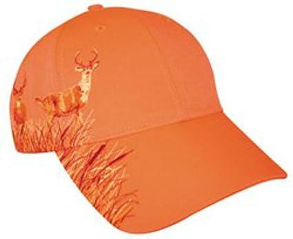 f7b26cdb Amazon.com : KC Caps Blaze Orange Deer Hunting Hat with Buck Design : Camouflage  Hunting Apparel : Sports & Outdoors