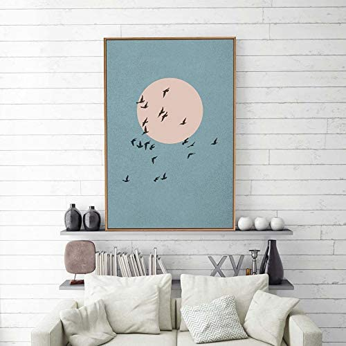 Framed Nordic Abstract Home Artwork for Living Room Bedroom