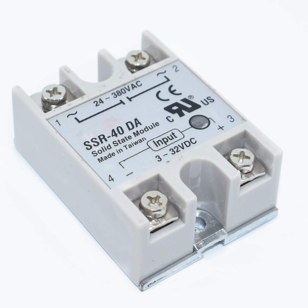 DC//AC-Halbleiterrelais-Modul f/ür SSR-40DA Temperaturregler 24V-380V 40A 250V SSR-40 DA Halbleiterrelais
