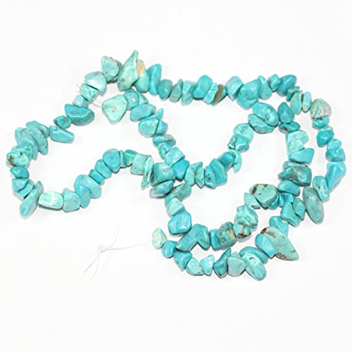 Top Quality Natural Turquoise Howlite Gemstones Smooth Chips Beads Free-form Loose Beads ~8x5mm beads (~34 inch) GZ1-5