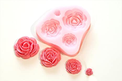 Generous Rose Flower Candle Silicone Mold Fondant Cake Decorating Tools Chocolate Candy Moulds 3d Craft Soap Clay Molds Complete In Specifications Bakeware
