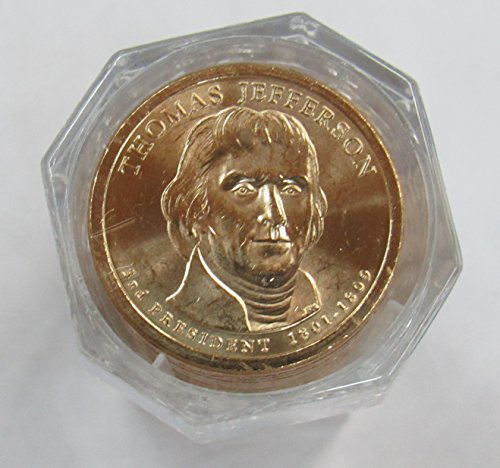 2007 P Jefferson Presidential Dollar First Day of Issue Sealed Roll of 20 Coins Brilliant Uncirculated (Jefferson Presidential Dollar Roll)