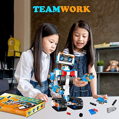 51%2BDJrNvNUL. AC  - okk STEM Robot Building Block Toy for Kids, Remote and APP Controlled Engineering Science Educational Assembling Learning Kits Intelligent Rechargeable Creative Set for Boys Girls Gift (635 Pieces)
