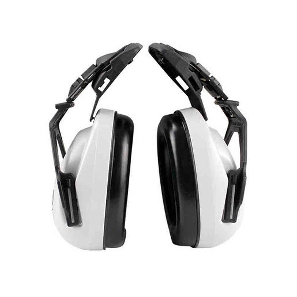 FS Head-mounted Noise-proof Earmuffs,Noise-proof Earmuffs Special Earmuffs For Helmet-type Helmet Construction Noise Reduction 25 Decibels (Color : Earmuffs)