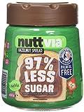 Nuttvia Hazelnut Spread with Sweeteners. Delicious & Palm Oil Free Hazelnut Spread 600 g Jar - 97% Less Suga
