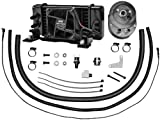 Jagg Oil Coolers Horizontal Low-Mount 10 Row Fan-Assisted Oil Cooler Kit - Black 751-FP2400