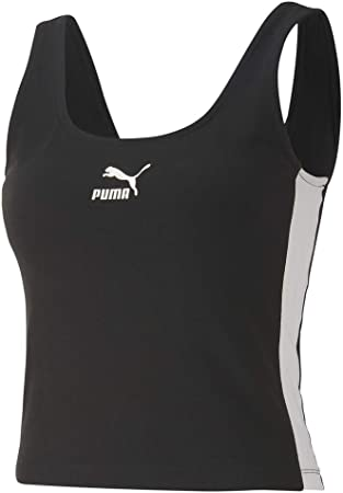Puma Classic Logo tank para mujer Negro 59621701,Ropa deportiva Negro de la marca Puma,Compuesto, Co