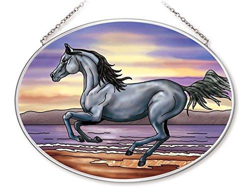 Amia Freedom Run Horse Glass Oval ()