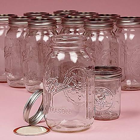 Amazon Glass Display Round Ball Mason Jars 40 Oz Clear Mason Custom Ball Decorative Jars