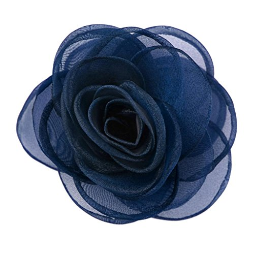 Merdia Women's Lovely Flower Hair Clip Rose Brooches [Jewelry]