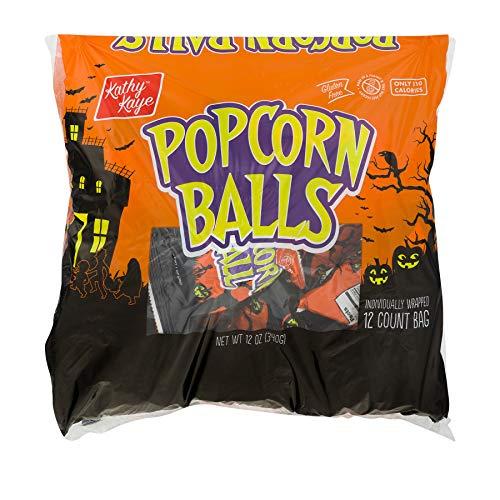 Halloween Candy Popcorn Balls (Kathy Kaye Halloween Popcorn Balls, 1 oz, 12)