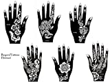 Tattoo Stencil Template 6 Sheets Pretty New Designs Suitable for Hand Henna6