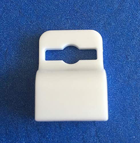 (White Gripper Card Holder Clamp for Standard Thickness ID Badge or Smart Card 5710-3058)