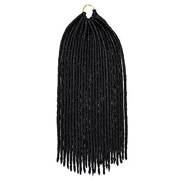Havana Mambo Faux Locs 45, 7cm (1pezzi) synthetic crochet trecce capelli Dreadlocks trecce Silike
