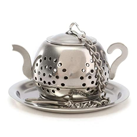 Good Quality Stainless Steel Loose Teapot Tea Leaf Infuser Tray Spice Strainer Herbal Filter Water Dispenser Parts