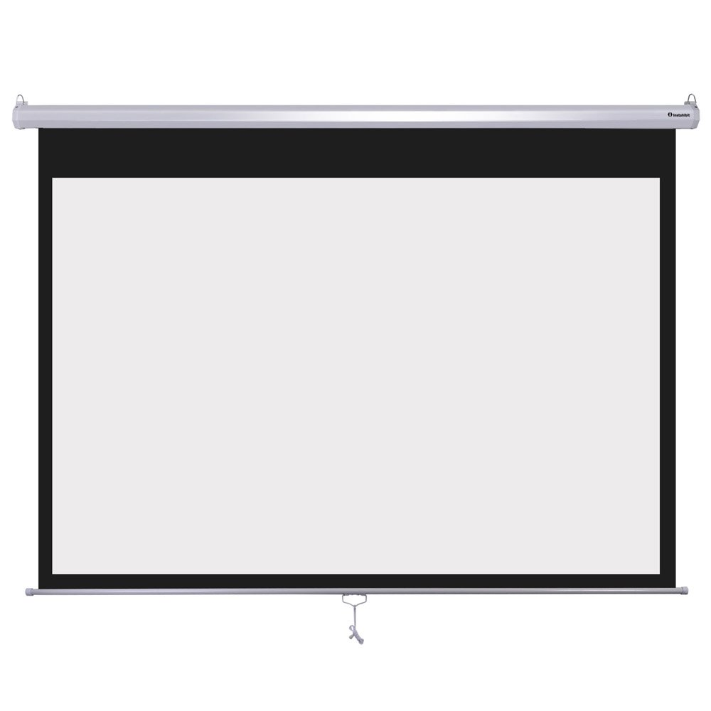 Wall Mount Manual Pull Down Projector Screen 16:9 Aspect Ratio: Multiple Sizes Available (72'') by Overwhelming
