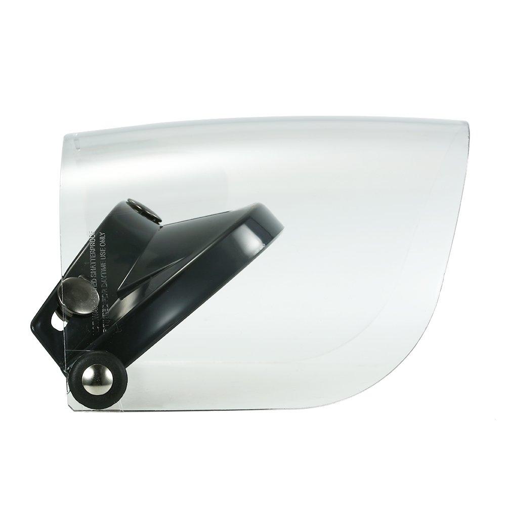Lente universal de 3 viseras para proteger el casco de la motocicleta de cara abierta