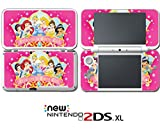 Princess Friends Cinderella Belle Pink Video Game Vinyl Decal Skin Sticker Cover for Nintendo New 2DS XL System Console