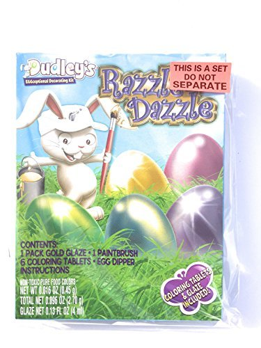 Dudley's Eggceptional Decorating Kit - ''Brazzle Dazzle'' - Egg Decorating Kit Bundle - Set of 2 by Dudley's Easter (Image #1)