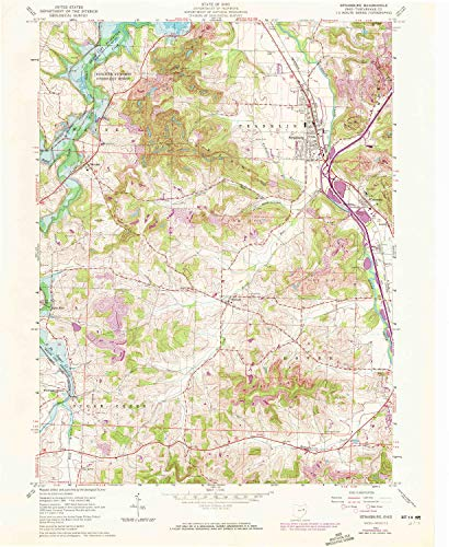 (YellowMaps Strasburg OH topo map, 1:24000 Scale, 7.5 X 7.5 Minute, Historical, 1961, 26.9 x 22.1 in - Paper)
