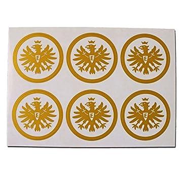 Aufkleber Set Logo Gold 6er Eintracht Frankfurt Gratis