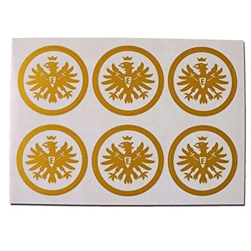 Autoaufkleber Aufkleber-Set Logo gold 6er Eintracht Frankfurt gratis Sticker Frankfurt forever Sticker