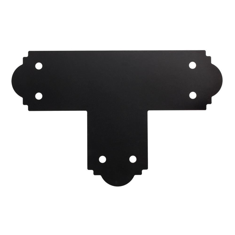 Simpson Strong Tie Outdoor Accents Simpson APT6-8 6 x 6-Inch ZmaxGalvanized Steel Black Powder-Coat Flat T Strap (8-Case)