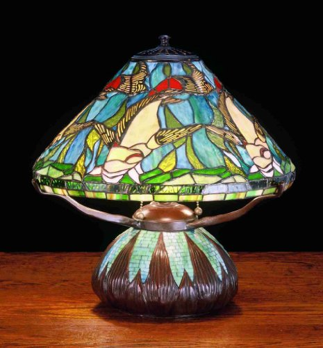 16 Inch H Tiffany Koi Mosaic Table Lamp Table Lamps