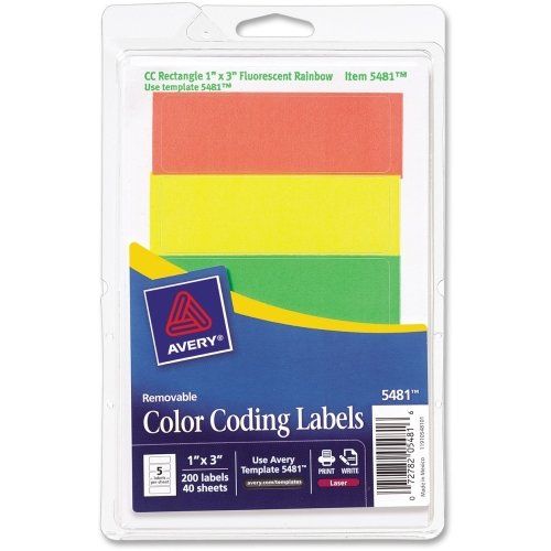 Avery Print or Write Color Coding Label - 1