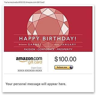 Amazon Gift Card - Email - Birthday Birthstone: January (Garnet) (B00N59437O) | Amazon price tracker / tracking, Amazon price history charts, Amazon price watches, Amazon price drop alerts