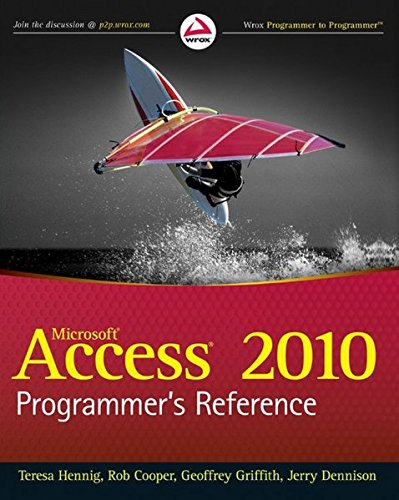 Access 2010 Programmer's Reference by Wrox