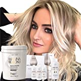 Hair Bleaching Set by Brae, Professional Powder Lightener Wanna Be Blond 17.6 oz with Bond Angel 3.38 fl. oz set and Bond Fortifier 3.38 fl.oz Step 3, Ultimate Bleaching Kit