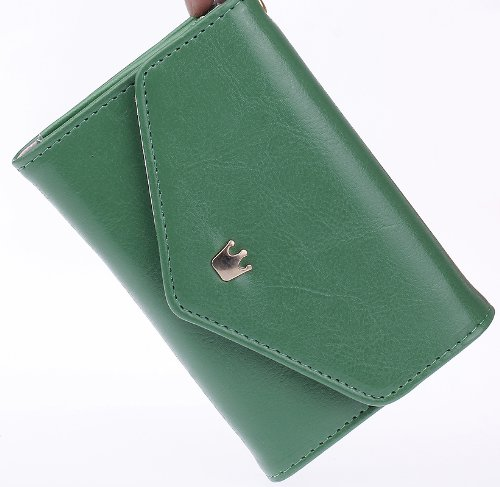 EOZY Ladies Crown Smart Pouch Purse Wallet Cash Note Slots Card Holder for Phone