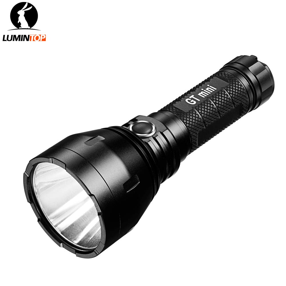 Lumintop GT mini 17W 4.5A FET driver 135000cd CREE XP-L HI neutral white/cold white max 1200 lumen beam throw 750 meters outdoor torch (GT mini + 35E ...