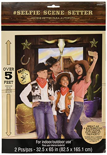 Amscan Party Supplies YeeHaw Western Selfie Scene