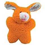 Zanies Cuddly Berber Fleece Babies Dog Toy, Bunny, 8-Inch, Orange, My Pet Supplies