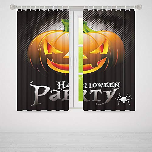 Window Curtains Blackout,Halloween,for Bedroom Living Dining Room Kids