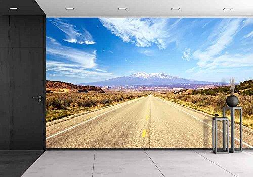Road Mural (wall26 - Road Through American Southwest, Utah, United States - Removable Wall Mural | Self-adhesive Large Wallpaper - 100x144)