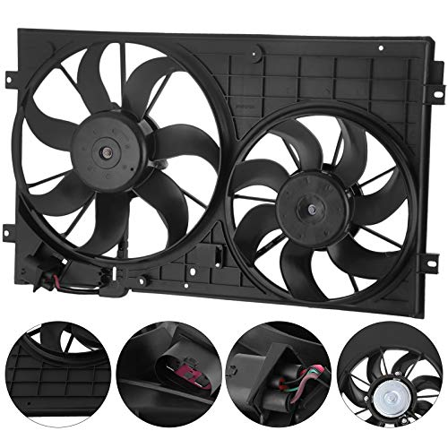 Mophorn Radiator Cooling Fan 12V 24V Electric Intercooler Fan Car Engine Fans for V-W Bee-tle Go-lf Mk6 Je-tta 2.0L 2.5L: